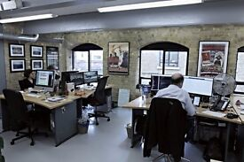 Two desk spaces available in creative, friendly office share in Bermondsey