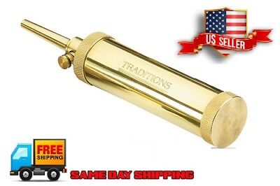 Traditions Solid Brass Black Powder Flask 30 grain spout Muzzleloading  A1201 New
