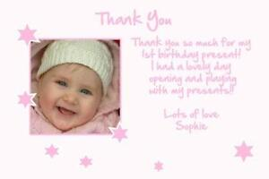 girls birthday thank you cards - First Birthday Thank You Cards
