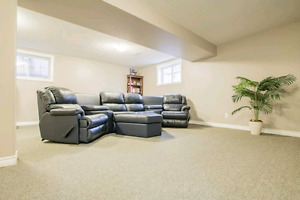 Navy Blue Leather Sectional