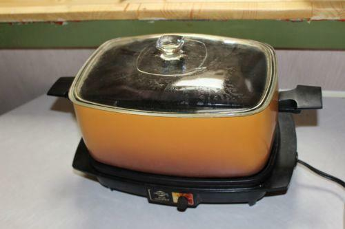 Vintage crock pot cookers steamers ebay for Hamilton beach pioneer woman slow cooker