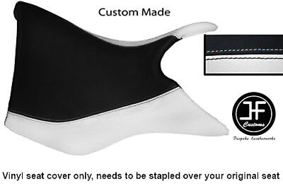 BLACK AND WHITE VINYL CUSTOM FOR TRIUMPH TIGER 800 FRONT RIDER SEAT CO