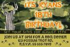 Camo Birthday Invitations