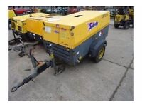 Used diesel Atlas copco XAS77 air compressor 2007