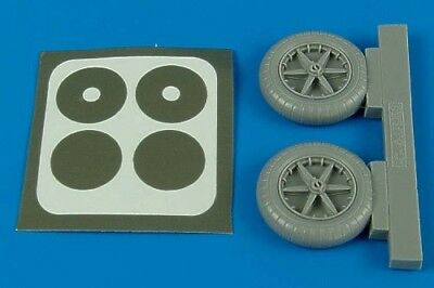 Aires 1/32 Bf109 E wheels for Eduard kit 2090