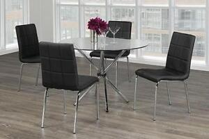 ROUND GLASS DINING TABLE SET (T2237)