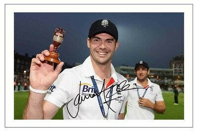 JAMES ANDERSON ENGLAND  CRICKET AUTOGRAPH SIGNED PHOTO