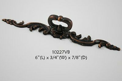 Hardware cabinet dresser Drawer Pull KNOB Mock Key w/ backplate Venetian Bronze