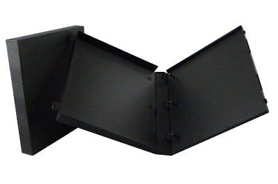 3 Ring Case View Binder With Overlay - 1.5 Inches - 3 Pack Black