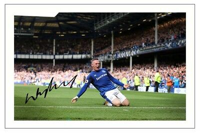 WAYNE ROONEY EVERTON AUTOGRAPH SIGNED PHOTO PRINT SOCCER