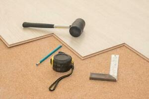 Cork Underlay acoustic insulation, reducing noise and sound transfer between floors and, raise the temperature,