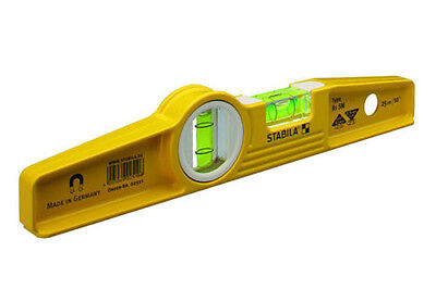 "Stabila 25100 Type 81SM 10"" Die Cast Magnetic Torpedo Level - NEW"