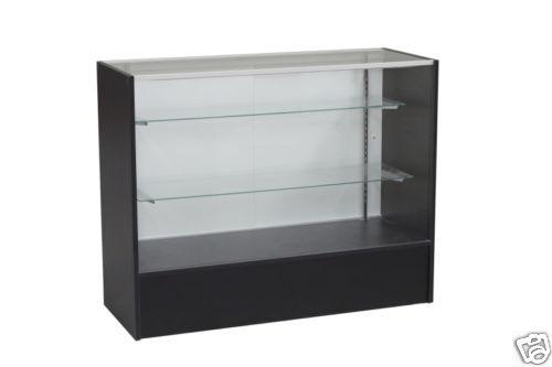"48"" Full Vision Black Showcase Display Store Fixture Knocked Down #SC-SC4BK"