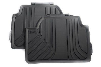 BMW Genuine All Weather Rubber Floor Mats Set Rear F20 51472210210