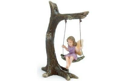 Miniature Dollhouse FAIRY GARDEN - Tree Branch Swing - Accessories