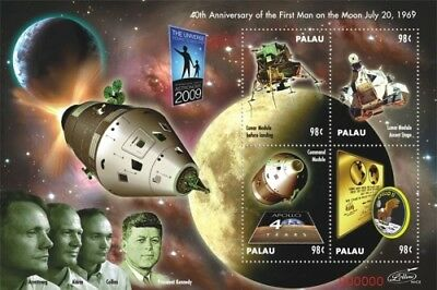 Palau- First Man on the Moon 40th Anniversary Stamp Sheet of 4 MNH