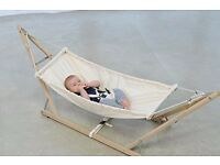 Nearly New Eco Natural Egonomical Baby Hammock Swing.