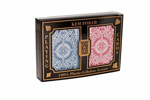 KEM Plastic Playing Cards, Arrow Red/Blue Poker Size, Jumbo Index