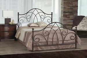 Metallic Queen Bed with Bronze Finish web exclusive deal (IF693)