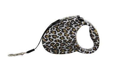 Alpha Dog Series - Retractable Pet Leash (Leopard Print) Print Dog Leash