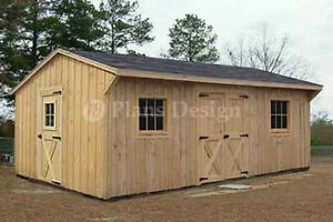 12 X 18 Garden Structures Saltbox Shed Plans Material