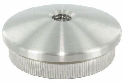 Endkappe leicht gewölbt mit M8 Innengewinde, massiv, für Rohr ø 42,4 x 2,6mm, zu