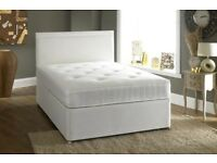 Divan Double bed with memory foam or orthopedic mattress and free headboard