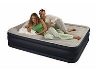 Intex Deluxe Pillow Rest Raised Air Bed Queen Size inc pump