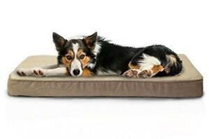 (DI19)Furhaven Pet Sherpa and Suede Deluxe Orthopedic Dog or Cat Pet Bed, L-24 X W-20 Inches, PICK UP ONLY!!