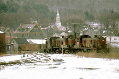 Boston & Maine RR 1506 1511 1516 West Lebanon NH 1967