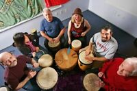 Drum circle just across the border in Amherst NS!