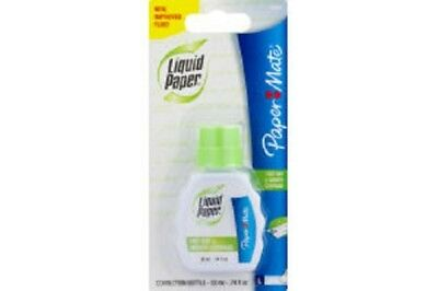 Paper Mate Liquid Paper Fast Dry Smooth Coverage 0.74 Oz 3 Pack