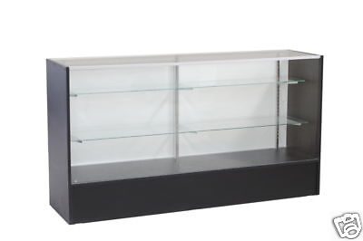 Glass Wood Black Showcase Display Case Store Fixture Knocked Down Sc-sc6bk