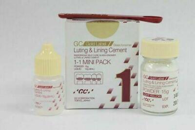 Gc Fuji 1 Luting Lining Cement Dental Glass Ionomer Light Yellow Radiopaque