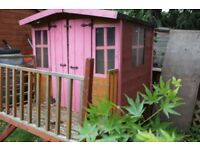 Wendy House with slide