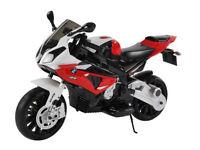 NEW BMW S1000RR 12V Motorbike Metallic Red White 3-8YRS