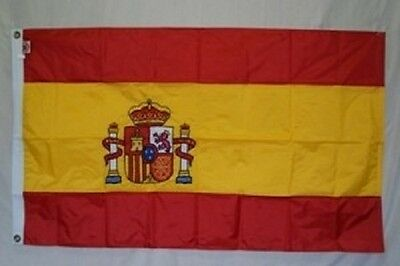 5x8 Embroidered Sewn Spain Nylon Flag 5'x8' Banner grommets