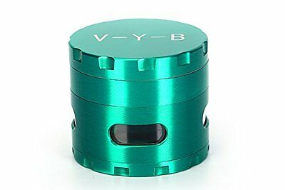 Large Spice Tobacco Herb Weed Grinder 4 Pc With Pollen Catcher 2 5  Gift Green
