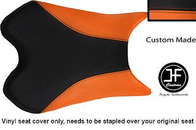 BLACK AND ORANGE VINYL CUSTOM FOR <em>YAMAHA</em> 1000 YZF R1 FRONT SEAT COVER