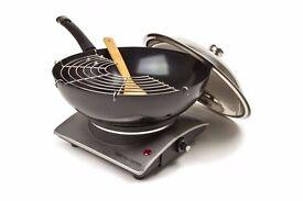 Moving Sale - Andrew James Premium Electric Wok with Tempura Rack and Hob