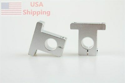 2pcs Sk16 16mm Metal Linear Rail Shaft Support Unit For Xyz Table Cnc Route