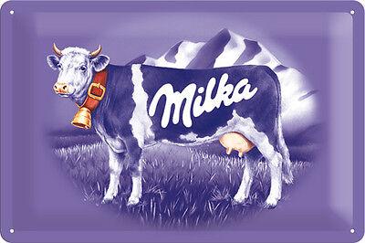 Milka Schokolade Kuh Blechschild 20x30 cm Sign Schild 22201 Chocolate Schoko