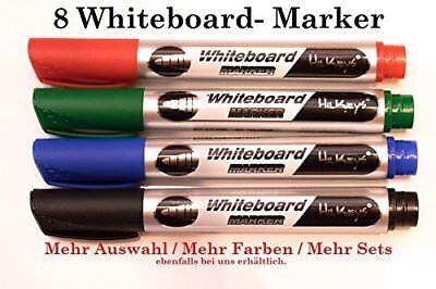 Whiteboard Marker 2*schwarz 2*rot 2*blau 2*grün Board-/Flipchart Marker
