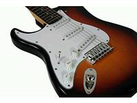 Almost new LEFT HANDED electric guitar lots of extras