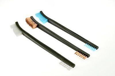 "*New* 3pc 7"" Double Ended Gun Cleaning Brush Set - Plastic Nylon & Copper"