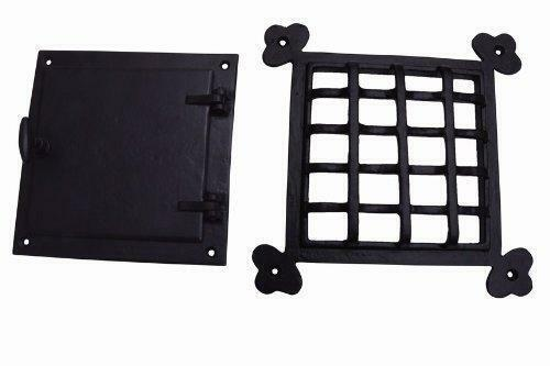 A29 Hardware 8 1/2 x 8 1/2 Inch Cast Iron Speakeasy Door Grill/Grille with