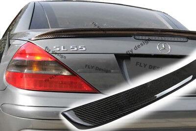 für Mercedes sl cabrio r 230 Carbon look heckspoiler becquet levre boot lid neu