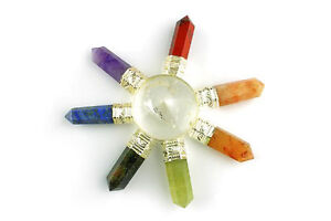 7 Chakra Crystal Quartz Pyramid Energy Generator - Ships from USA w/ tracking!