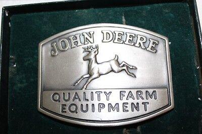 NEW Genuine John Deere 1950 Trademark Belt Buckle 1985 QUALITY FARM EQUIPMENT