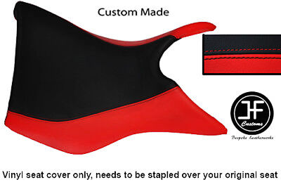 BLACK AND RED VINYL CUSTOM FOR TRIUMPH TIGER 800 FRONT RIDER SEAT COVE